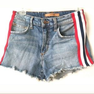 Joe's Denim Shorts with Red/White/blue stripe